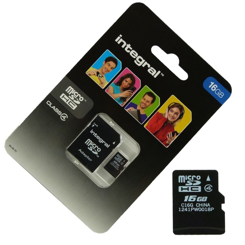 Carte-Memoire-Micro-SD-16-Go-classe-4-Pour-Wileyfox-Spark