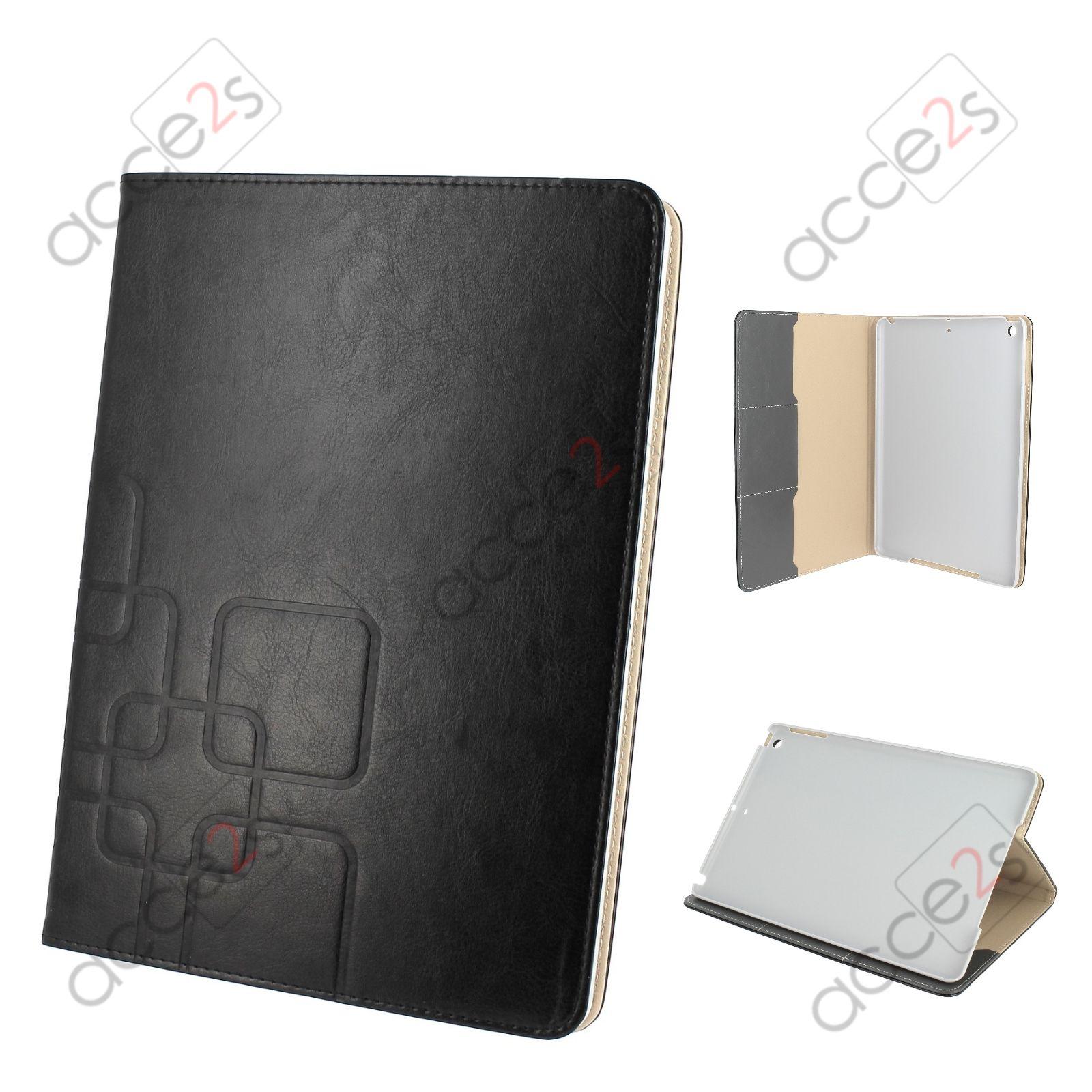 housse etui pour apple tablette ipad air aspect cuir noir. Black Bedroom Furniture Sets. Home Design Ideas
