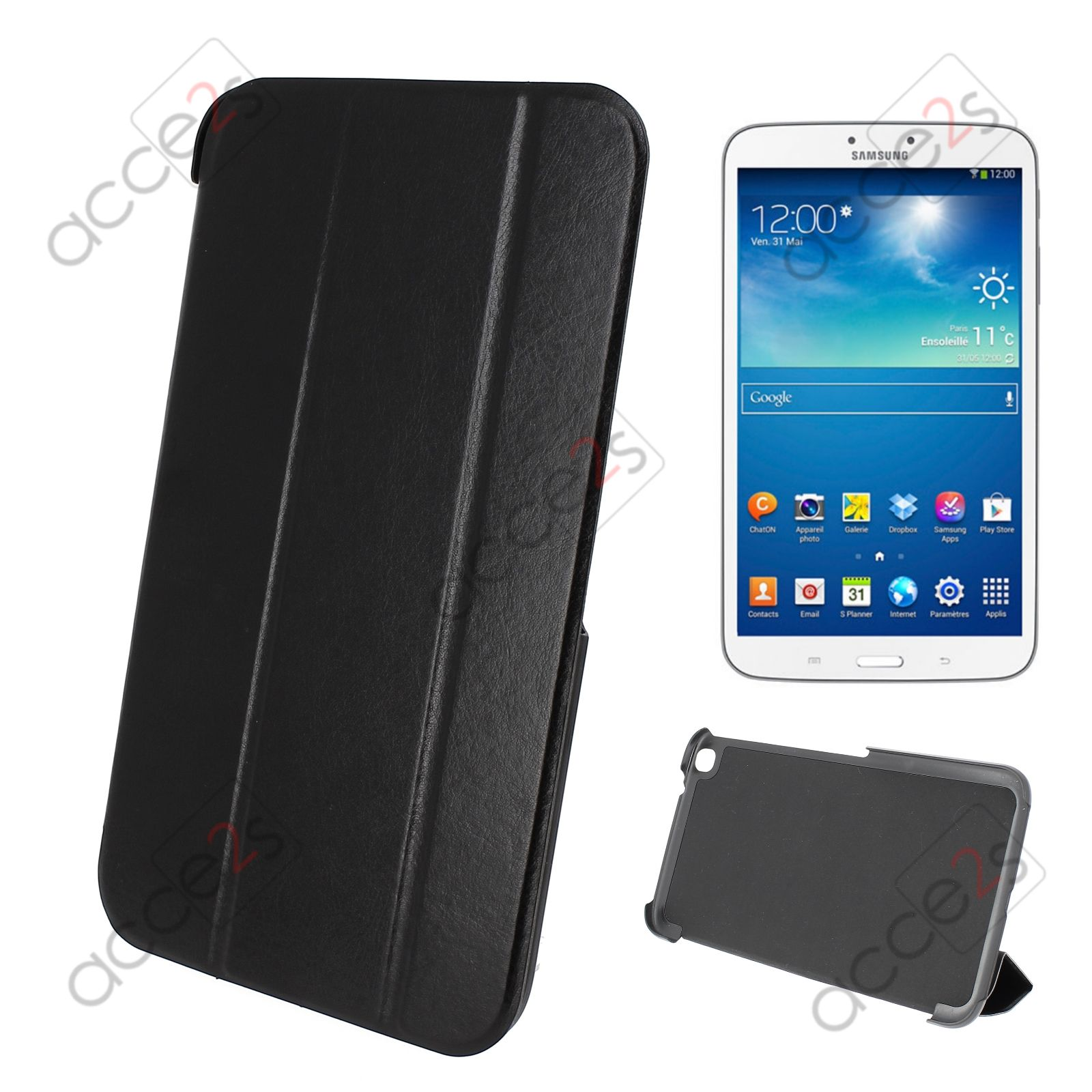 Housse etui stand up pour samsung tablette galaxy tab 3 8 for Housse tablette samsung