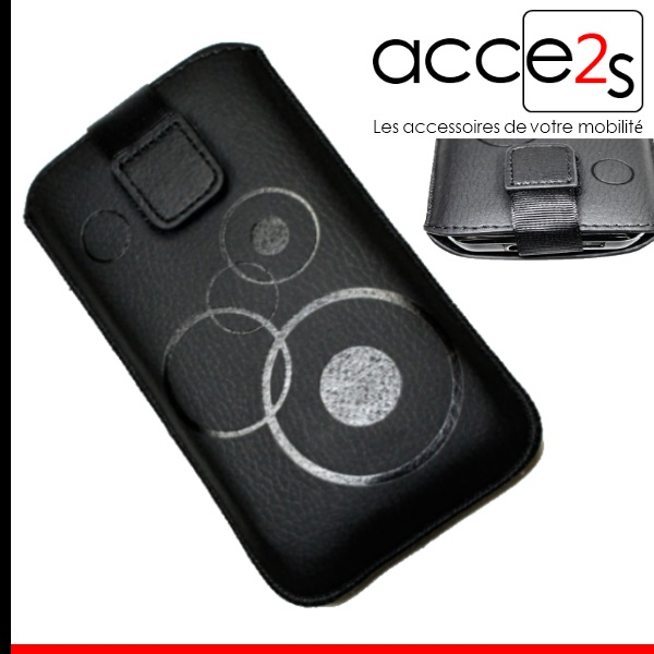 housse etui aspect cuir pour acer liquid e2 duo noir passant ebay